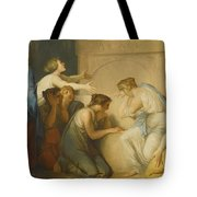 A Group Of Female Mourners At The Tomb Of Achilles Tote Bag