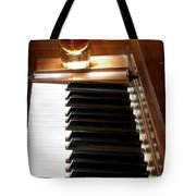 A Shot Of Bourbon Whiskey And The Black And White Piano Ivory K Tote Bag