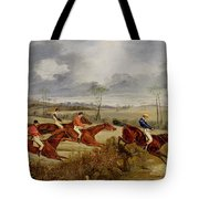 A Steeplechase - Near The Finish Tote Bag