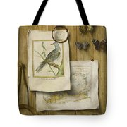 A Trompe L'oeil With Magnifying Glass Tote Bag