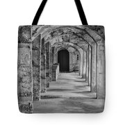 Archway At Moravian Pottery And Tile Works In Black And White Tote Bag