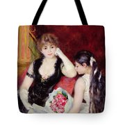 At The Concert Tote Bag by Pierre Auguste Renoir