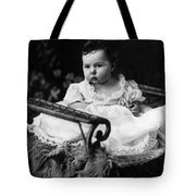 Baby In Chair 1910s Black White Archive Boy Kids Tote Bag