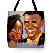Barak And Michelle Obama   The Power Of Love Tote Bag