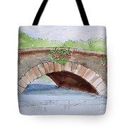 Baskets Of Flowers On Bridge To Westport Ireland Tote Bag