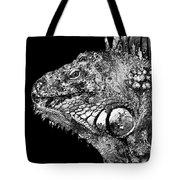 Black And White Iguana Art - One Cool Dude 2 - Sharon Cummings Tote Bag