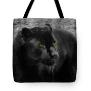 Black Leopard Tote Bag
