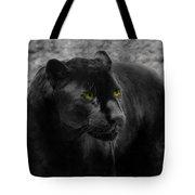 Black Leopard Tote Bag