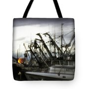 Boats With Sprays Of Light Tote Bag