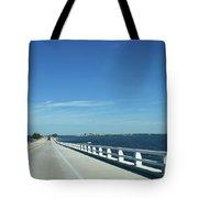 Bridge Over The Sea Tote Bag
