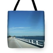 Bridge Over The Sea Tote Bag
