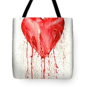Broken Heart - Bleeding Heart Tote Bag