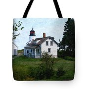 Burnt Island Maine Tote Bag