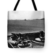 Cannons In Fort Aimed Harbor Circa 1865 Black Tote Bag