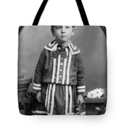Child Kid Flowers 1890s Black White Archive Boot Tote Bag