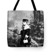 Child Kid In Fancy Velvet Outfit 1890s Black Tote Bag