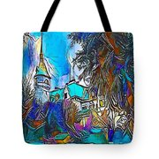 Church Blue - My Www Vikinek-art.com Tote Bag