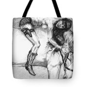 Cowgirl Riding A Hourse Tote Bag