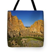 Crooked River At Smith Rock State Park Oregon  Tote Bag