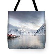 Dawn At Hamnoy On The Lofoten Islands Tote Bag