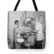 Dentist Working Patient October 18 1962 Black Tote Bag