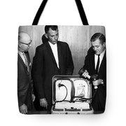 Doctors Looking Heart Circa 1960 Black White Tote Bag