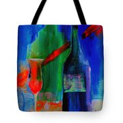 Electric Terra Cotta Blues Tote Bag