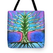 Electric Tree Tote Bag