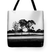 Evening Mist Black And White Tote Bag