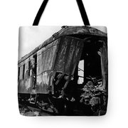 Exploded Train Car Robbery October 1923 Black Tote Bag