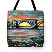 Folsom Bridge Tote Bag