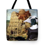 Galgo Espanol - Spanish Greyhound Art Canvas Print -the Tower Of Babel  Tote Bag