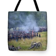 Gettysburg Union Artillery And Infantry 8456c Tote Bag