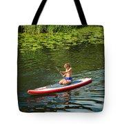Girl In Canoe Tote Bag