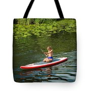 Girl In Canoe Tote Bag