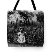 Girl Tomato Patch 1950s Black White Archive Kids Tote Bag