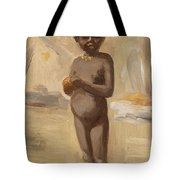 Girl With Orange In Cairo Tote Bag