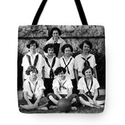 Girls High School Basketball Team 1910s Black Tote Bag