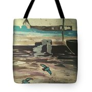 Gray Skies Out On The Sea  Tote Bag