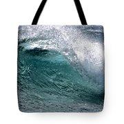 Green Cresting Wave, Hawaii Tote Bag