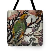 Green-yellow Bird Tote Bag