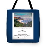 Half Moon Bay - A Haiku Tote Bag