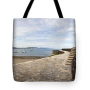 Harbour Wall Lyme Bay Dorset Tote Bag