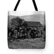 High School Football Game 1912 Black White 1910s Tote Bag