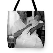 Holding Baby 1927 Black White 1920s Archive Boy Tote Bag