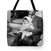 Holding Toddler 1912 Black White 1910s Archive Tote Bag