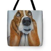 Hound Dog Eyes Tote Bag