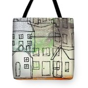 Houses By The River Tote Bag by Linda Woods