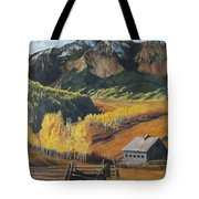 I Will Lift Up My Eyes To The Hills Autumn Nostalgia  Wilson Peak Colorado Tote Bag