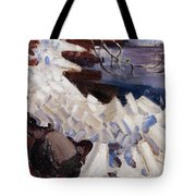 Ice Breaking On The Shores Of Kalela Tote Bag